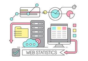 Gratis linjär webbstatistik vektor