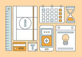 Kostenlose Linear Office Work Vector Elemente