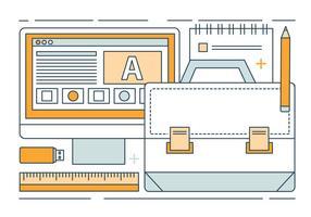 Kostenlose Linear Vector Digital Media Illustration