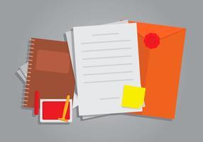 Briefpapier mit Cachet Vektor