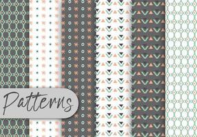Nettes geometrisches dekoratives Muster-Set vektor
