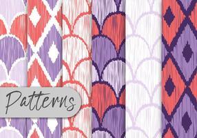 Färgglada handdragen mönsteruppsättning vektor