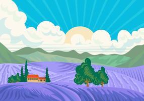 Bluebonnet Valley Scene vektor