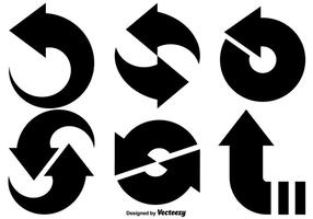 Vektoruppsättning med uppdateringsikon vektor