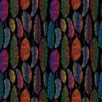 sömlösa mönster av regnbågsfjädrar vektor