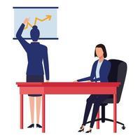 Zeichentrickfigur der Geschäftsfrauen