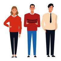 Gruppe von Menschen Zeichentrickfiguren vektor
