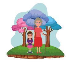 familj avatar tecknad karaktär porträtt