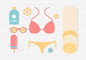 Gratis sommar semester bakgrund vektor