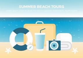Freier Sommerurlaub Hintergrund vektor