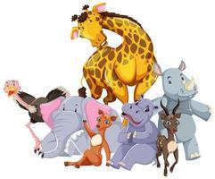 Gruppe von Wildtieren