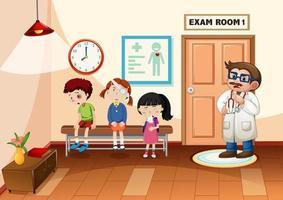 Kind im Krankenhaus mit einer Arztszene