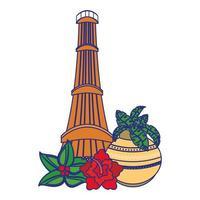 indisk nationell tecknad komposition