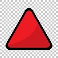 tom röd trafikbanner på transparent bakgrund vektor