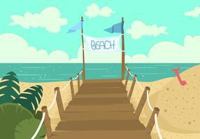 Boardwalk Blick auf den Strand