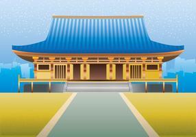 Martial Art Dojo Gebäude Illustration