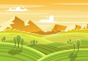 Schöne Toskana Landschaft vektor