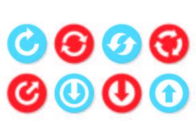 Set von Update-Icons