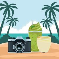 sommar, strand och tropisk semesterkomposition