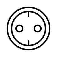 eluttag-ikonen vektor