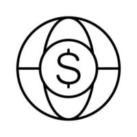 global valuta ikon vektor