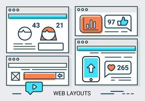 Free Linear Web Layout Vektor Hintergrund