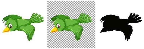 uppsättning fågel karaktär