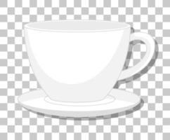eine Tasse Kaffee lokalisiert auf transparentem Hintergrund vektor