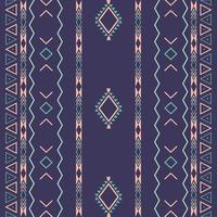 aztekisches ethnisches Stammes-nahtloses Muster mit geometrischen Formen