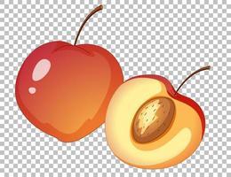 persika tecknad stil isolerad