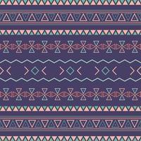 aztekisches Stammes-nahtloses Muster mit geometrischen Elementen vektor