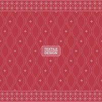 rotes nahtloses traditionelles Textilbandhani-Sari-Randmuster
