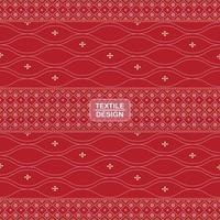 nahtloses traditionelles Textilbandhani-Sari-Randmuster vektor