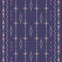 nahtloses Muster eines aztekischen ethnischen Stammes mit geometrischen Formen