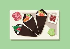Temaki Sushi Vektor