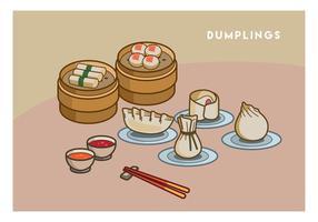 Gratis Dumplings Vector Illustration