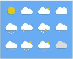 väder ikonuppsättning vektor