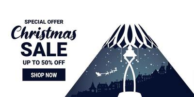 jul och vinter försäljning marknadsföring banner