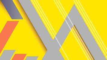 gelbe, graue und orange Winkellinien Design