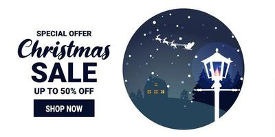 Werbebanner für Weihnachts- und Winterverkaufsförderung vektor