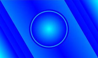 blauer Farbverlauf Kreis und Winkel Design