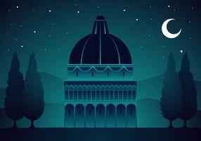 Nacht der Toskana freien Vektor