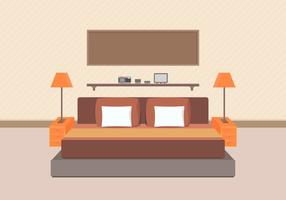 Modern Bedroom Furniture Vector