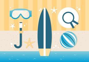 Free Summer Traveling Vorlage Hintergrund vektor