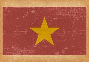 Grunge flagga av Vietnam