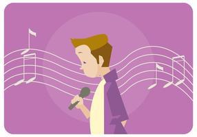 Singen Litle Boy Vektor