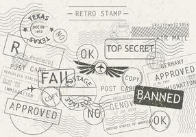 Cachet auf einem Postkarten-Vektor