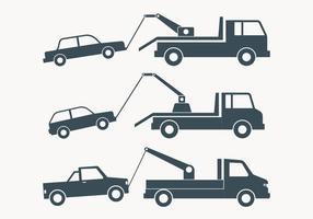 Abschleppen LKW Einfache Illustration
