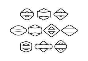 Gratis märkesamling vektor