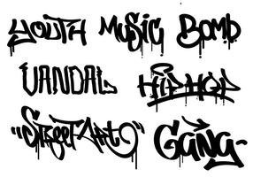 Graffiti-Set vektor